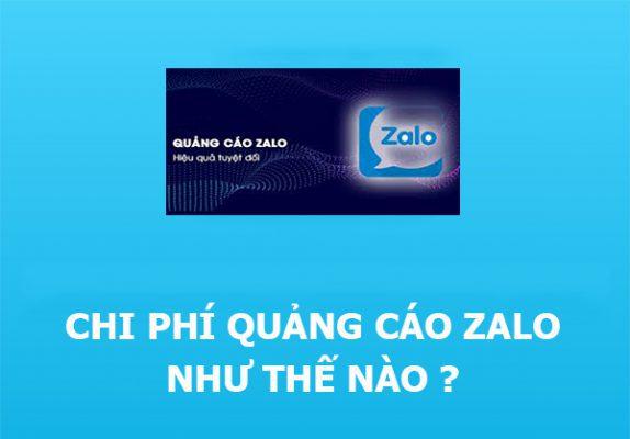 Chi phí quảng cáo trên Zalo