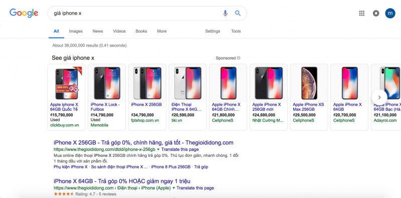thành công với google shopping