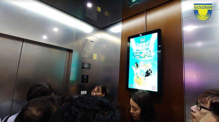 Hình thức quảng cáo trong thang máy