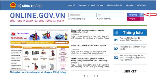 giấy phép đăng ký sàn thương mại điện tử tại bộ công thương